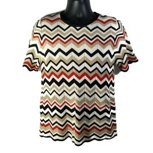 Alfred Dunner Size M Sweater Short Sleeve